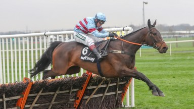 Lalor and Richard Johnson on the way to victory at Aintree