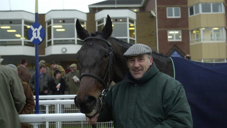 Tommy Cuthbert with Exalted after his win at Hamilton