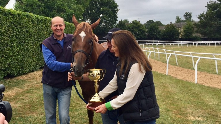 Ed Dunlop with Red Verdon and the Melbourne Cup