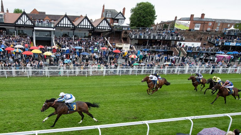 Chief Ironside (Kieran Shoemark) scores in style at Chester in May