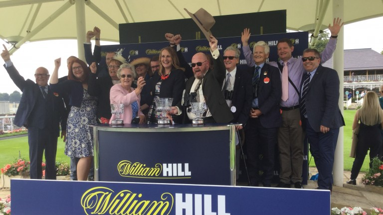 Heart Of The South Racing celebrate victory with Raven's Lady