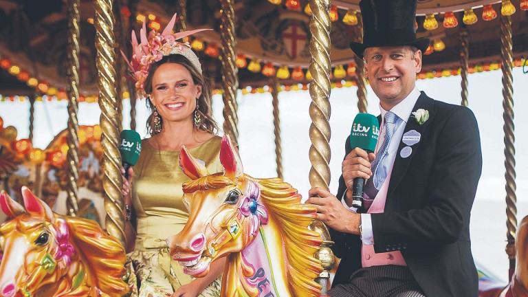 Ed Chamberlin and Francesca Cumani hosted ITV's Champions Day coverage