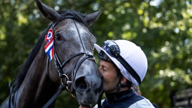 Love is in the air: Colm O'Donoghue gives Alpha Centauri a kiss