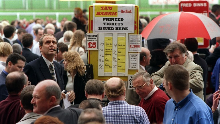 Adrian Pariser looks to the heavens for assistance in the betting jungle