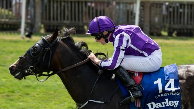 U S Navy Flag (Ryan Moore) wins the July CupNewmarket 14.7.18 Pic: Edward Whitaker