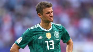 Dejected German Thomas Muller