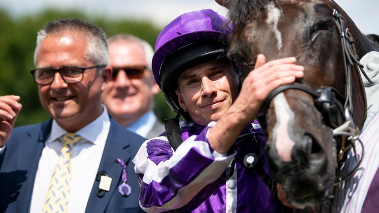 US Navy Flag: will be partnered by Ryan Moore in his bid to create history at Randwick