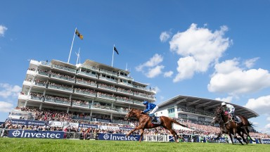 Masar and William Buick win the Investec Derby - the colt has been ruled out for the season