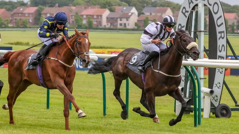 Rachel Richardson winning at Ayr last month on board Wor Lass