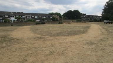 Hurst racecourse pre-parade ring
