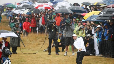 Carnoustie had been baking in the sun for weeks, but on Friday the heavens opened
