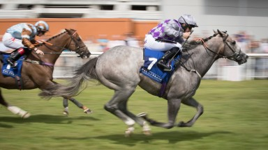 Havana Grey and P.J McDonals wins the Sapphire Stakes (Group 2) .The Curragh.Photo: Patrick McCann 22.07.2018