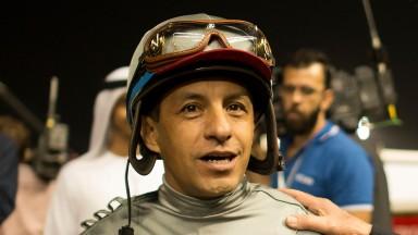 Victor Espinoza: injured in a fall at Del Mar