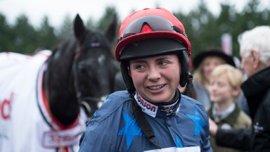 Black Corton (Bryony Frost) after the Kauto Star novices chaseKempton 26.12.17 Pic: Edward Whitaker