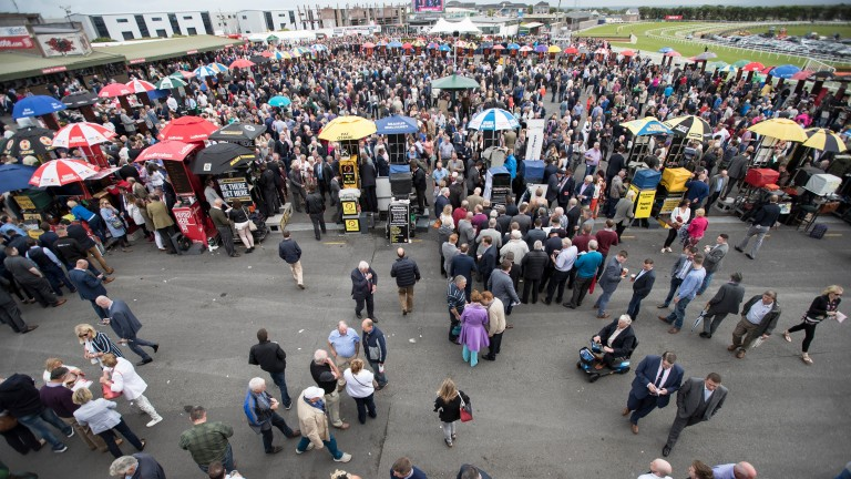 The betting ring at last year's Galway festival