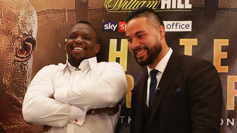Dillian Whyte and Joseph Parker pose for photographs