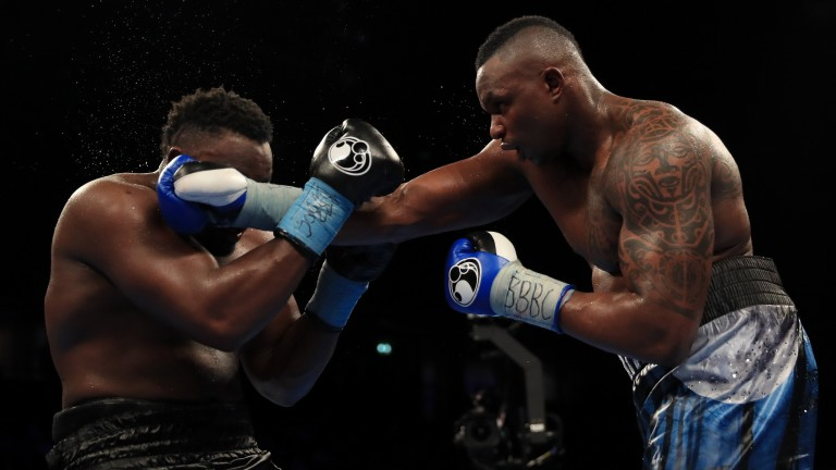 Dereck Chisora (left) and Dillian Whyte during their 2016 Manchester bout