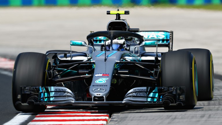 Valtteri Bottas's Mercedes in practice at Hungaroring