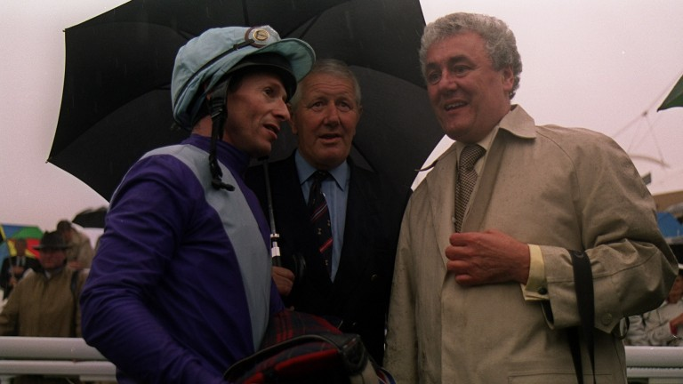 Richard Quinn, David Elsworth and Jeff Smith after victory in the 2001 Goodwood Cup