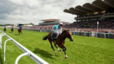 Frankel (Tom Queally) wins the Sussex StakesGlorious Goodwood 1.8.12 Pic: Edward Whitaker