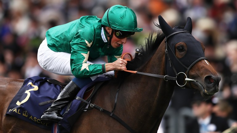 Aljazzi and William Buick land the Duke of Cambridge Stakes at Royal Ascot