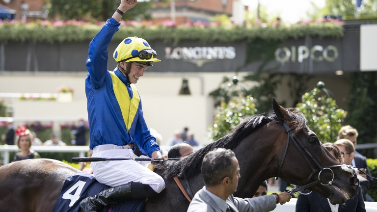 Celebrations: the in-form James Doyle celebrates another major win at Ascot