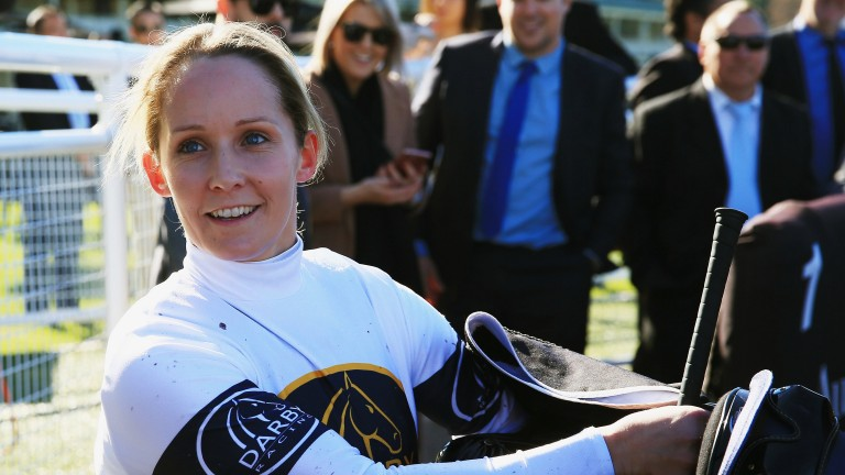 Rachel King after winning at Randwick in Sydney last month