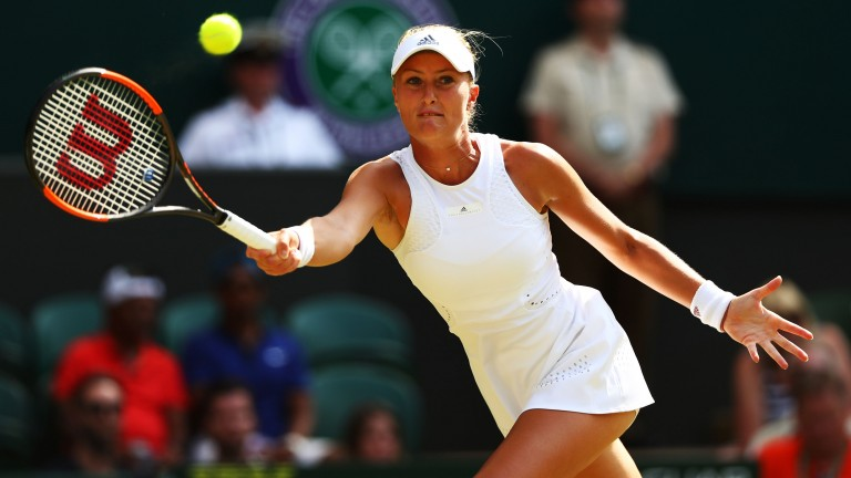 Kristina Mladenovic could not find a way to beat Serena Williams at Wimbledon