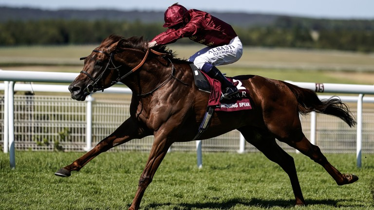 Lightning Spear: claimed a deserved first Group 1 win in this season's Sussex Stakes