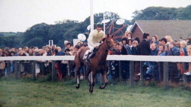 GAY FUTURE winning at Cartmel 1974