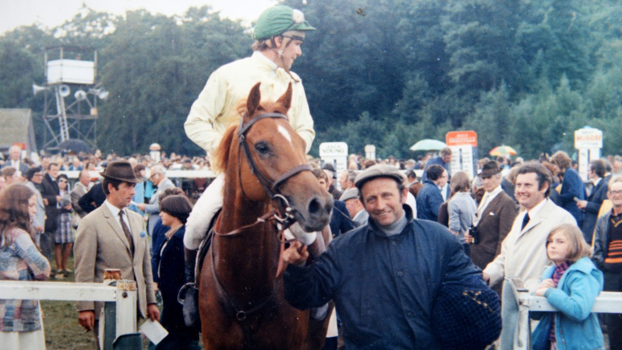 Gay Future Is Led Into The Winners Enclosure At Cartmel