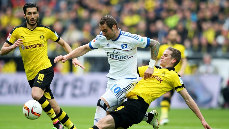 Pierre-Michel Lasogga is back at Hamburg after an unsuccessful loan spell at Leeds