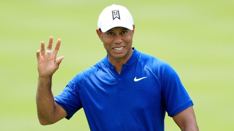 Tiger Woods hit 66 in his opening round at Firestone