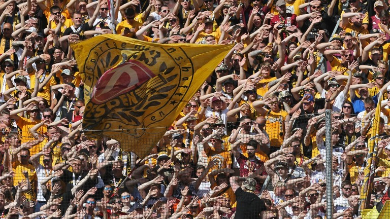 Supporters of Dynamo Dresden