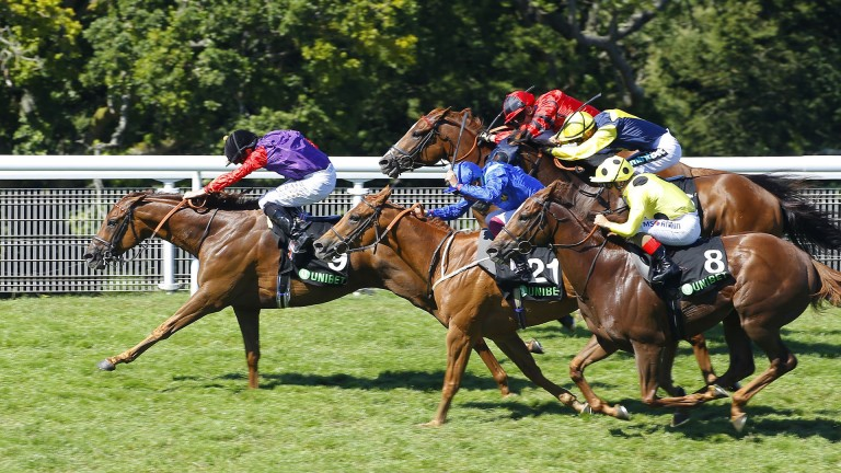 A royal win: Seniority lands the Golden Mile under Ryan Moore for the Queen
