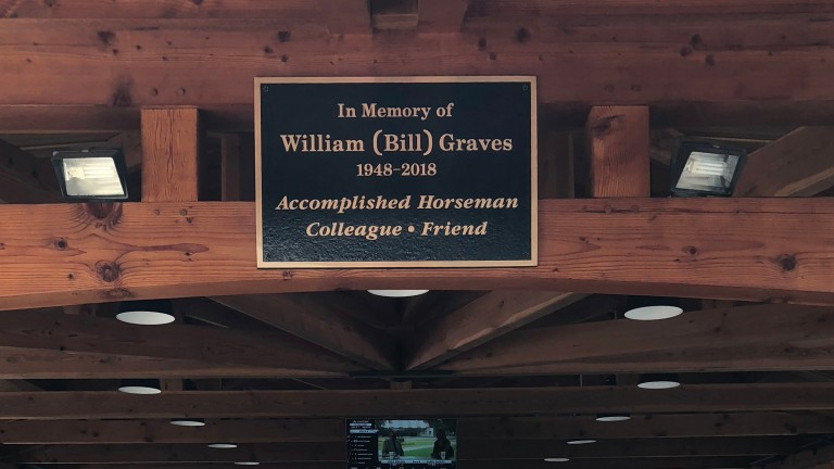 The plaque commemorating the recently deceased and much missed Bill Graves