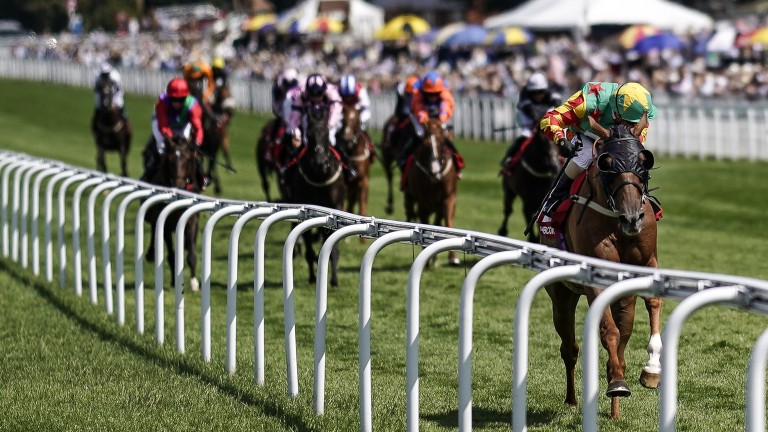 Lil Rockerfeller: stormed clear to win on the Flat at Glorious Goodwood in the summer