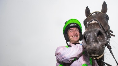 Thursday: Patrick Mullins and Sharjah, winners of the Galway Hurdle