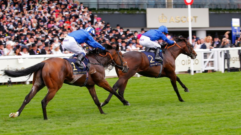 Blue Point (William Buick) beats Battaash (Jim Crowley) in the King's Stand Stakes at Royal Ascot