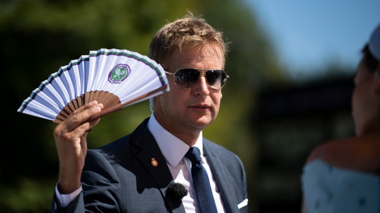 Ed Chamberlin: enjoying the hot weather at Glorious Goodwood last summer
