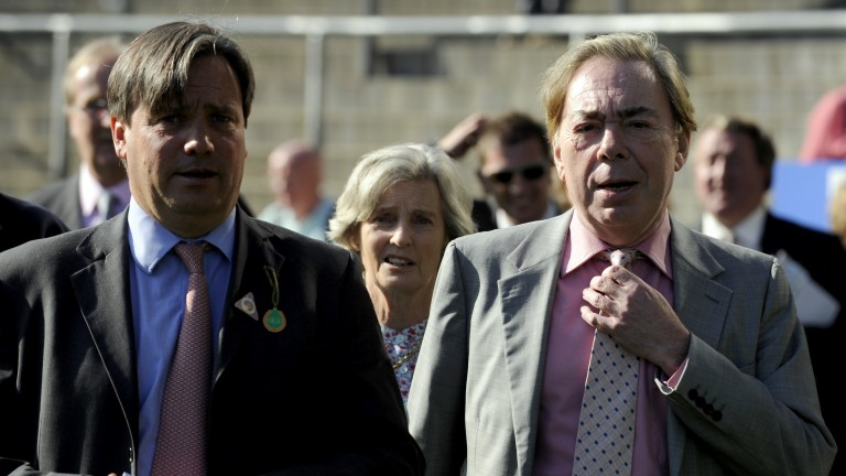 Lord Lloyd-Webber (right) with racing manager Simon Marsh