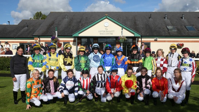Last year's line-up on Carlisle's ladies only racecard