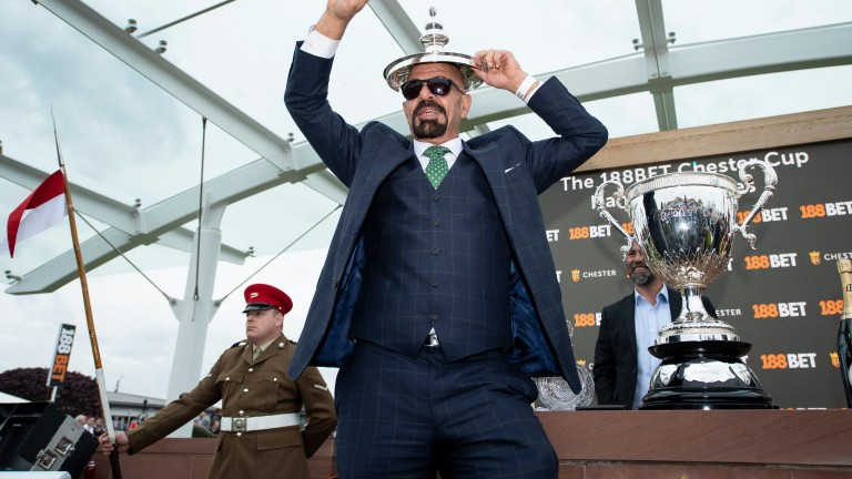 Marwan Koukash: colourful owner promises he will strip off if he wins the Melbourne Cup with Magic Circle