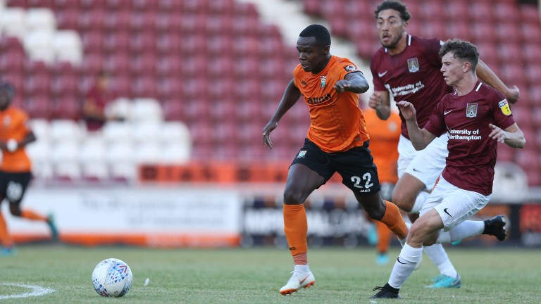 Josh Walker (orange) looked sharp for Barnet in pre-season