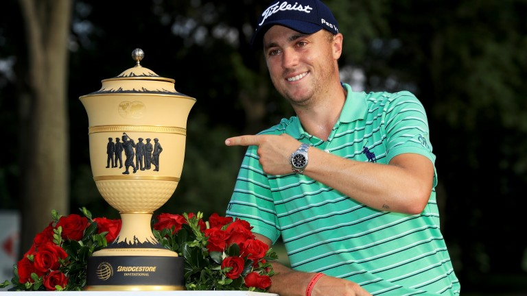 Justin Thomas could be handling another trophy tonight