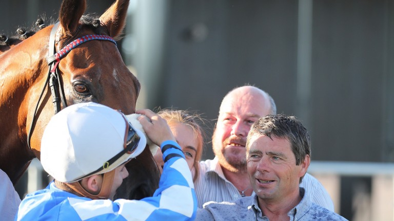 Sea The Lion: Ronan Whelan and Jarlath Fahey after winning with the gelding at the Curragh last month