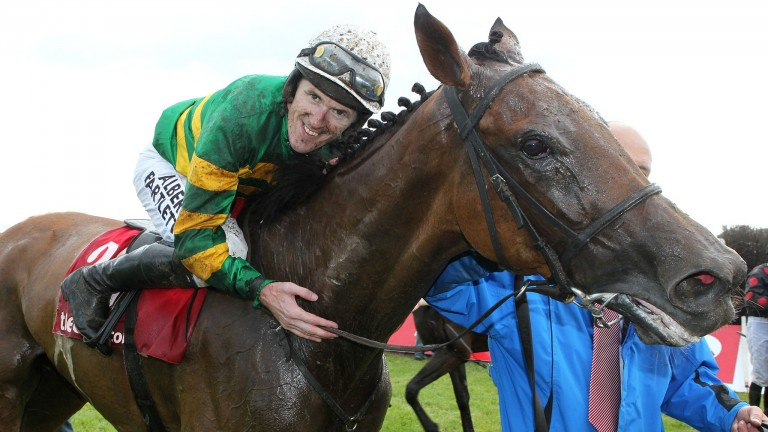 Carlingford Lough pictured with Sir Anthony McCoy after winning the 2013 Galway Plate