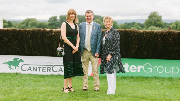 Debbie Potter, James Potter and Sian Cawallader Hinkins at Bangor