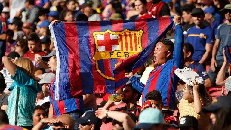 Barcelona fans at the International Champions Cup