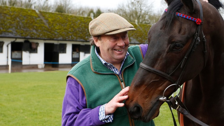 Nicky Henderson, with his career-defining chaser Sprinter Sacre, who benefited from wind surgery
